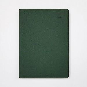 2021 위클리 다이어리 25절 - 인조가죽(진녹색)