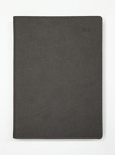 2021 위클리 다이어리 25절 - 인조가죽(진회색)