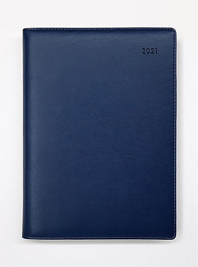 2021 위클리 다이어리 25절 - 인조가죽(남색)